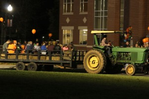 The little kids enjoyed the hayride. Photo by Megan Hartman