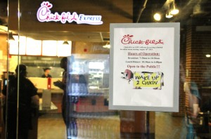 Due to the push for Chick-fil-A to serve breakfast, Simply To Go has had to move locations from the DCC to Tucker. Photo by: Elizabeth Banfield