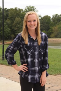 Bailey Hierholzer is a midfielder on the women's soccer team. Photo by Hannah Haggerty.
