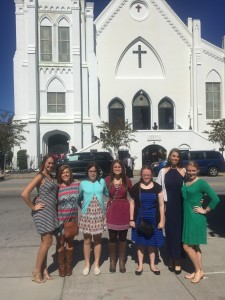 Gardner-Webb students in front of the historic Mother Emanuel AME Church. Courtesy of Megan White.