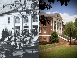 Hamrick Hall 1955 and 2015