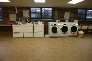 Stroup features three washers and three dryers for residents to do laundry. Photo by: Megan Hartman