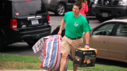 Tyler Davis helping with move in day at Gardner-Webb, 2013. Photo courtesy of GWU