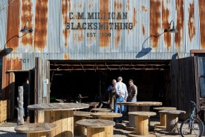 Students were taken on location to do a photo story for the conference at places like C.M. Millican Blacksmithing located in Grapevine, Texas. Photo by Madison Weavil
