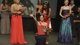 Liv LuVisi being crowned Miss Gardner-Webb. Photo by Madison Weavil