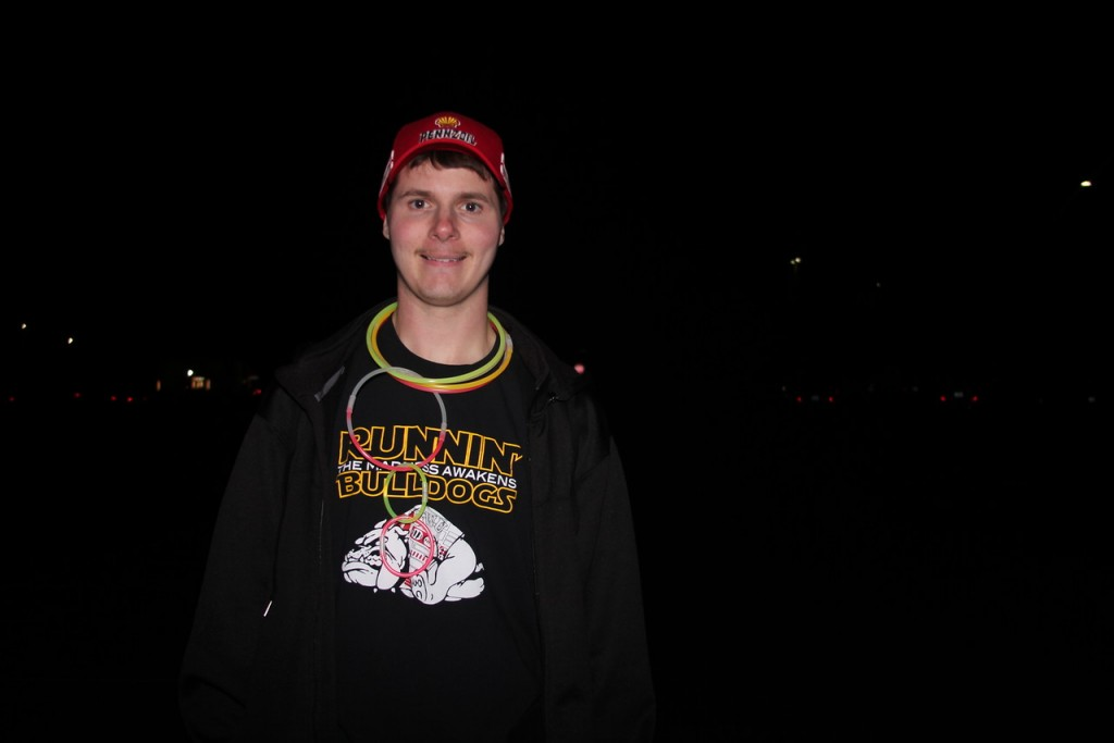 Jeffery Korth came up with the idea for the Glow Run last year and hopes to do it again in the years to come.